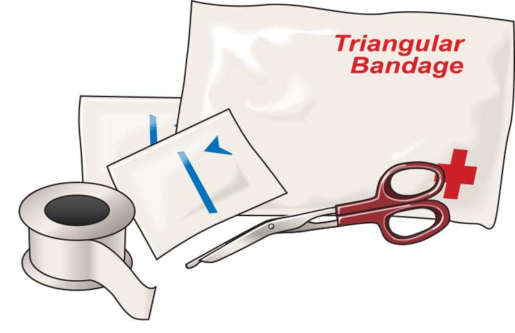 Parts of a first-aid kit