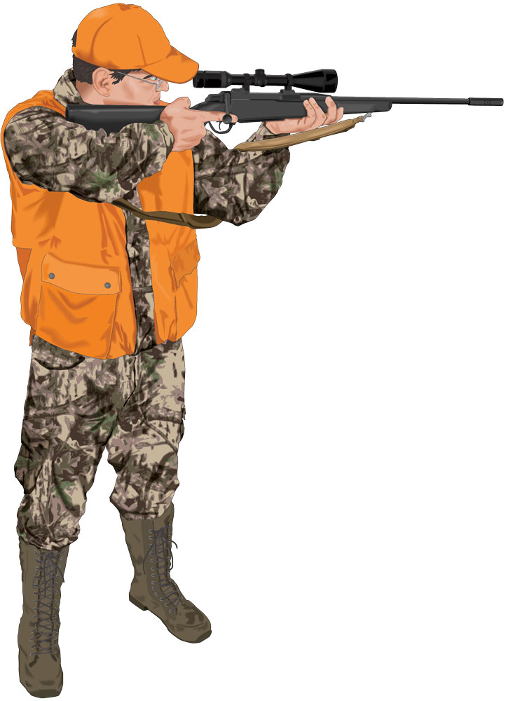 Hunter with rifle