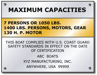 Calculating Capacity and the Capacity Plate | | Boat Ed com™