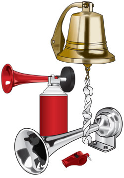 Sound signaling devices: bell, horn