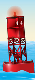 Lighted Buoy - red