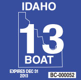 Idaho Invasive Species Fund Sticker