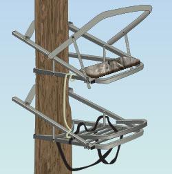 Self-climbing tree stand
