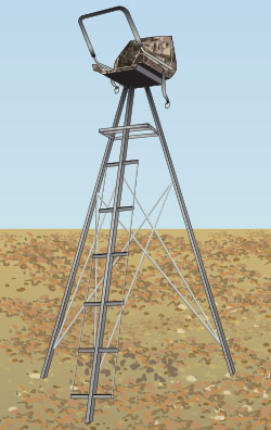 Tripod freestanding stand