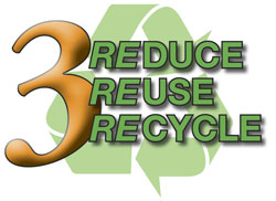 Three Rs of Protecting the Environment: Reduce, Reuse, and Recycle