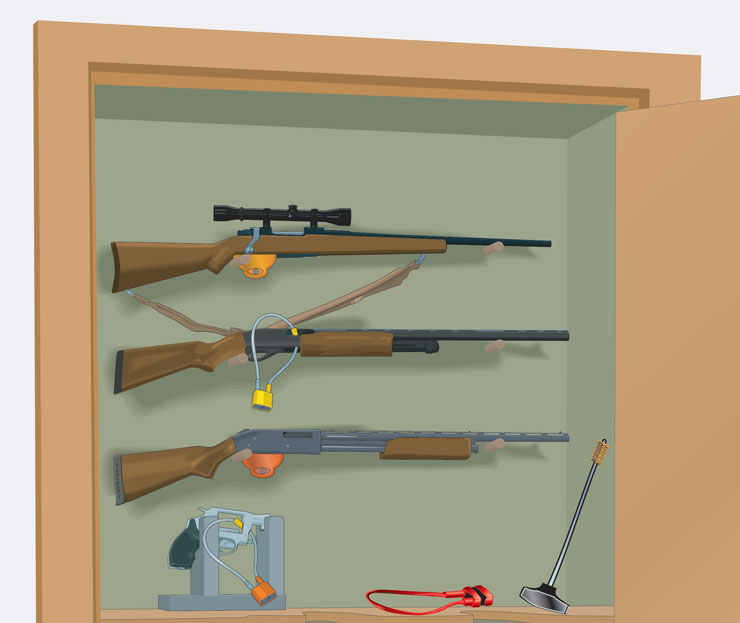 Firearm storage closet