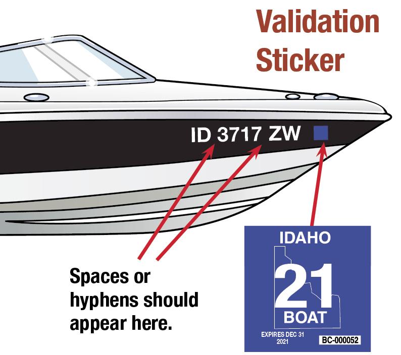 Idaho Boat Decal