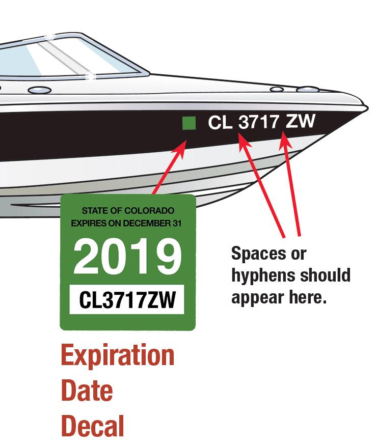 Colorado Boat Decal 2019