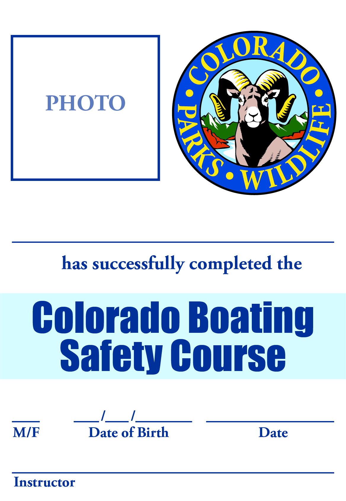 Colorado Boating Safety Certificate