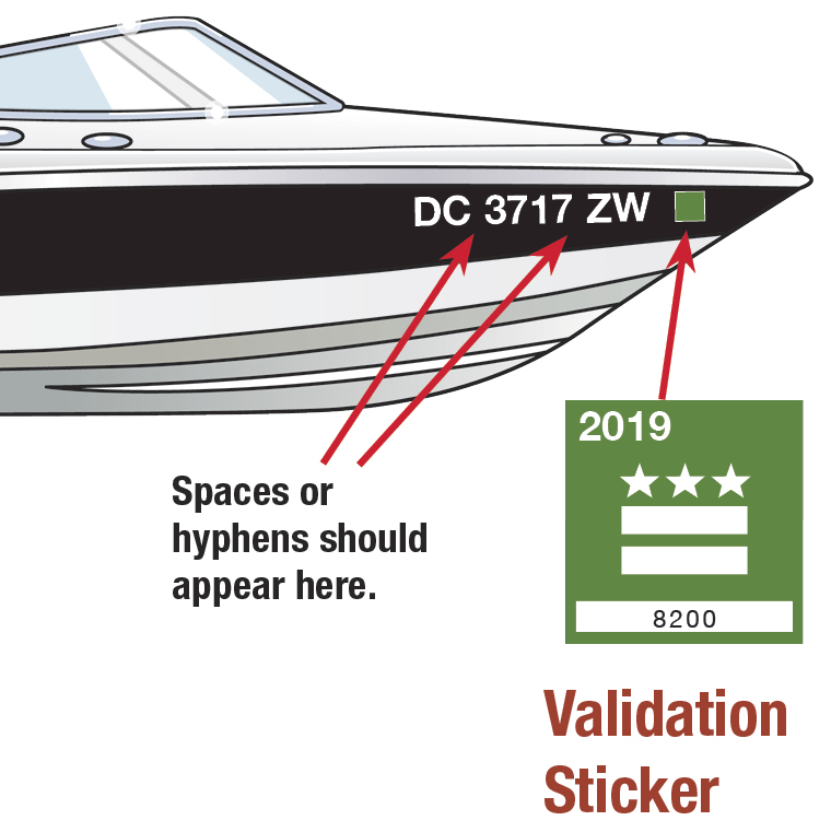 DC Boat Decal