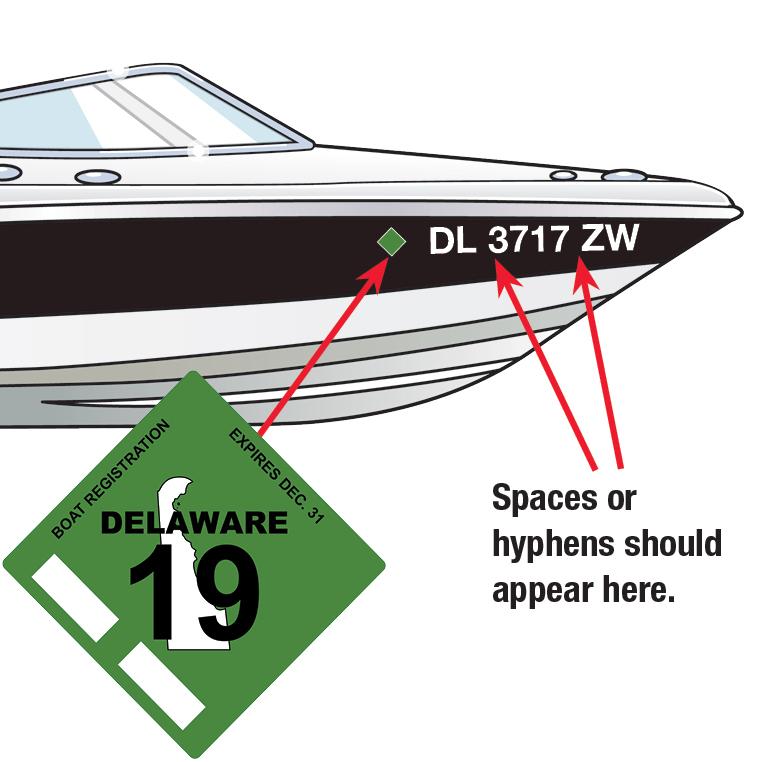 Delaware Boat Decal 2019