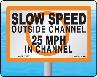 Florida Slow Speed Outside Channel Sign