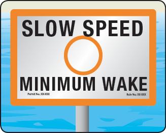 Florida Slow Speed Minimum Wake Zone Sign