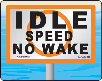 Florida Idle Speed No Wake Zone Sign