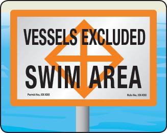 Florida Vessel Exclusion Area Sign