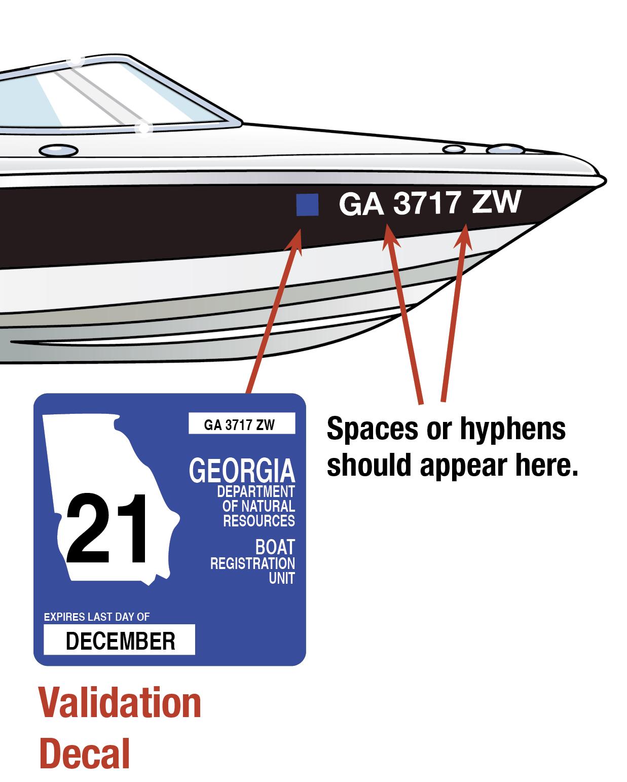 Georgia Boat Decal 2019