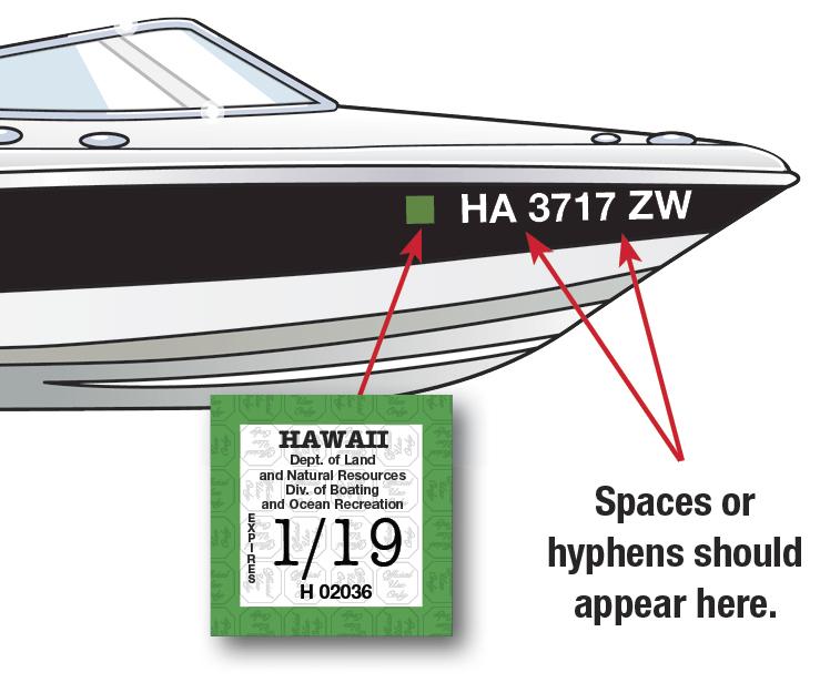 Hawaii Boat Decal