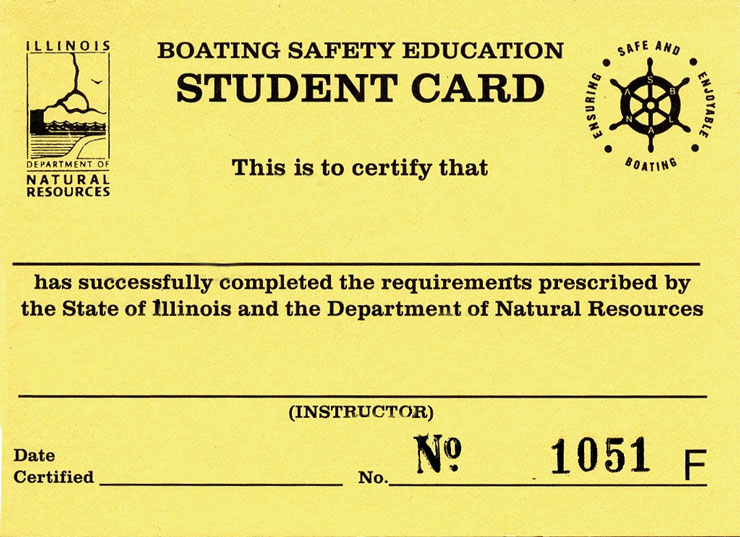 IL Boating Safety Education Card