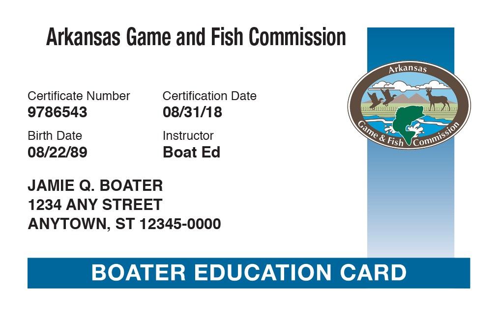 Arkansas Boater Education Certificate