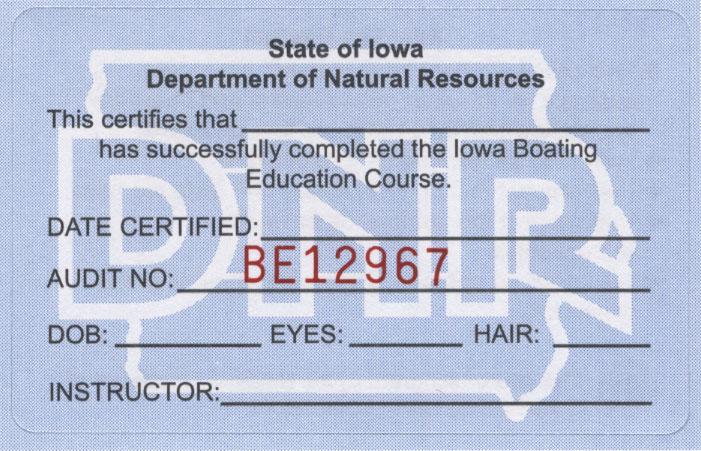 Iowa Boater Education Certificate