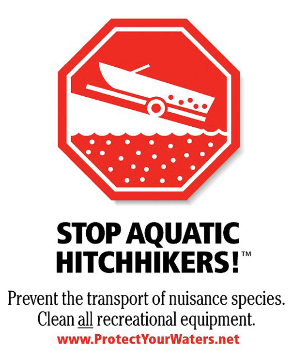 Stop Aquatic Hitchhikers Poster