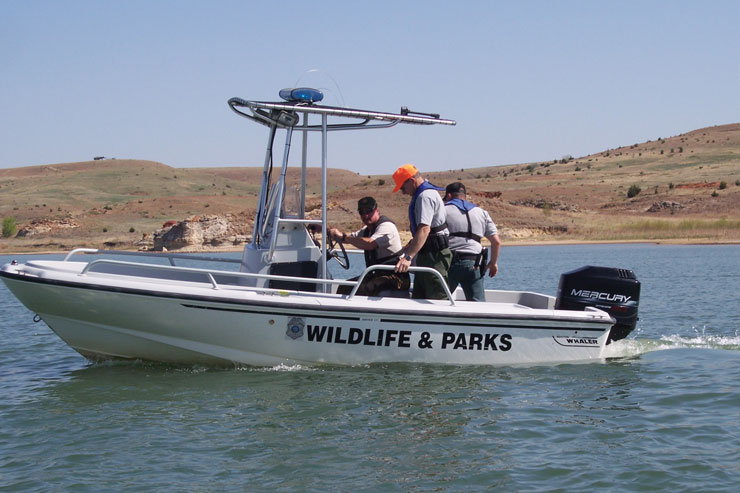 Kansas Enforcement Vessel and Officers
