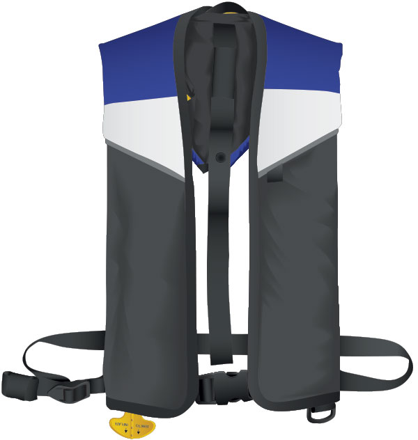 Manual inflatable PFD