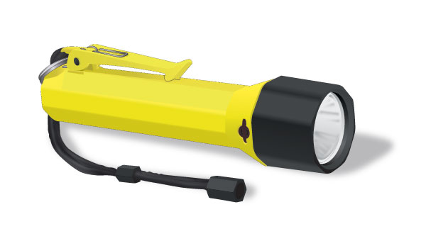 Watertight flashlight with SOS signal
