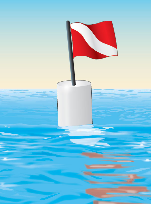 Canadian diving buoy