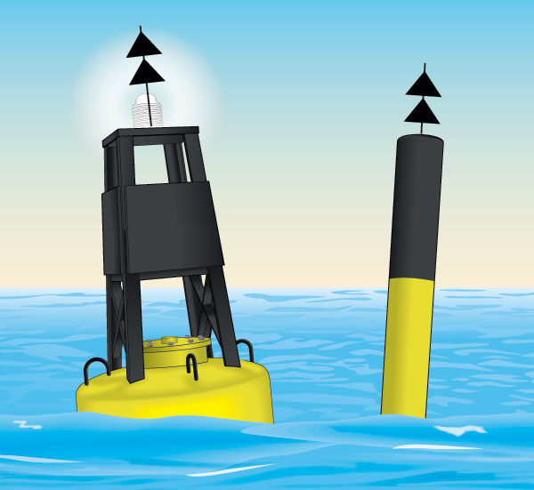 North cardinal buoy