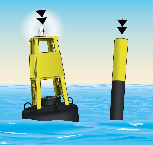South cardinal buoy