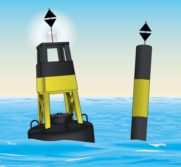 East cardinal buoy