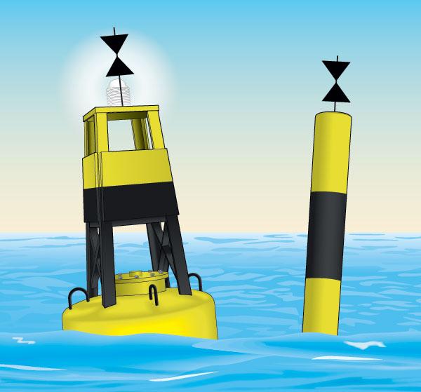 West cardinal buoy