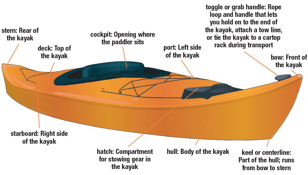 Parts of a Kayak | Boating License Study Guide for Online Boating ...