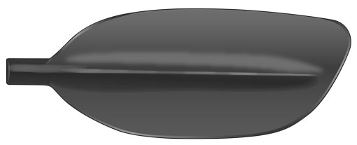Asymmetrical kayak paddle blade