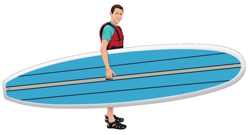How to carry a paddleboard