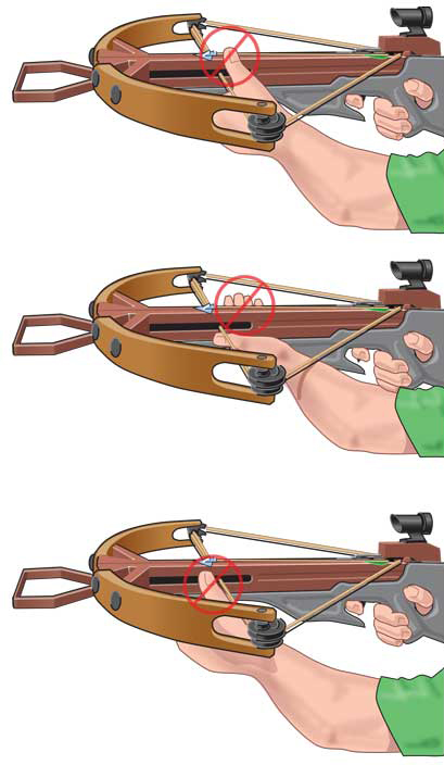 Incorrect crossbow grips