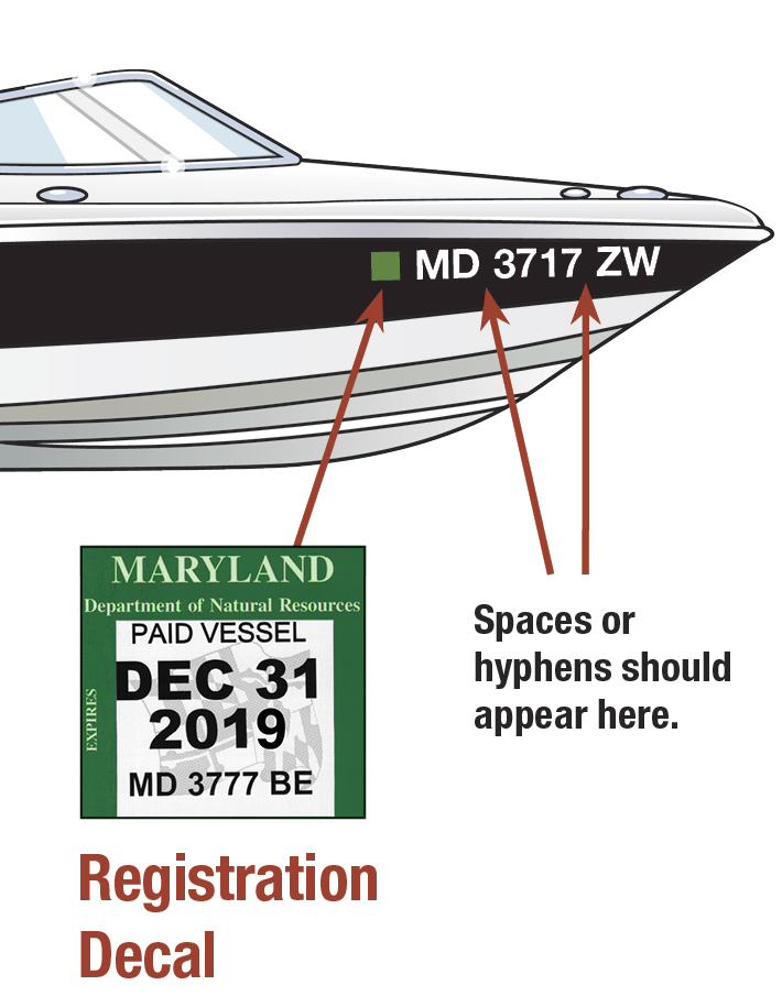 Maryland Boat Decal