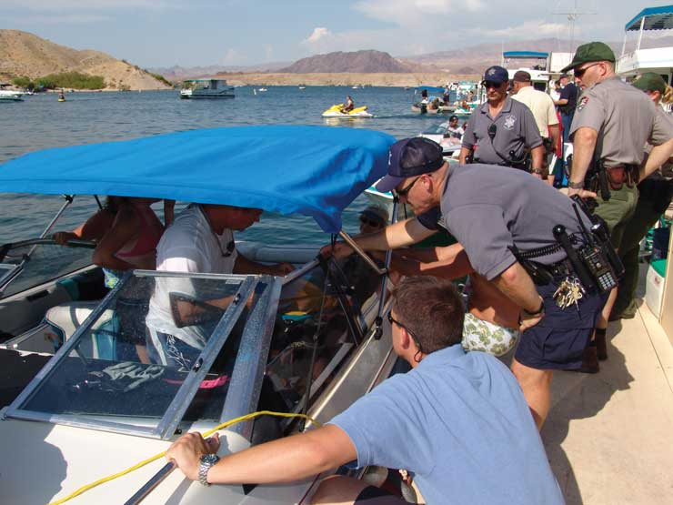 Nevada Officers Boat Check