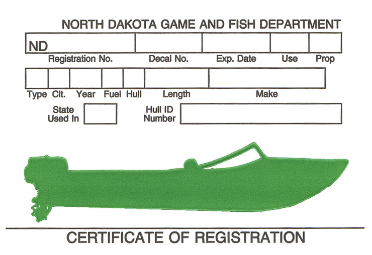 North Dakota Certificate of Registration