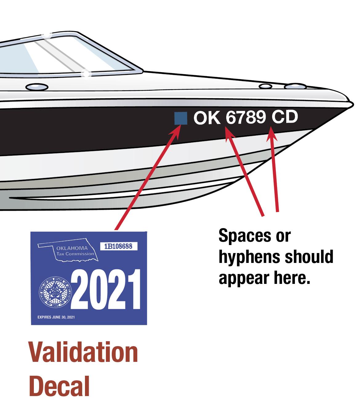 Oklahoma Boat Decal