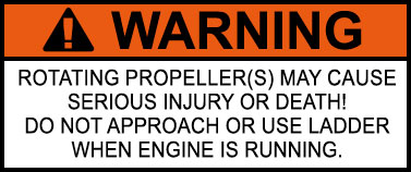 Propeller Warning Sticker