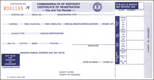 Certificate of registration ky boat for Alberta motor vehicle registration