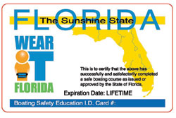 Florida Boating Safety Education ID Card