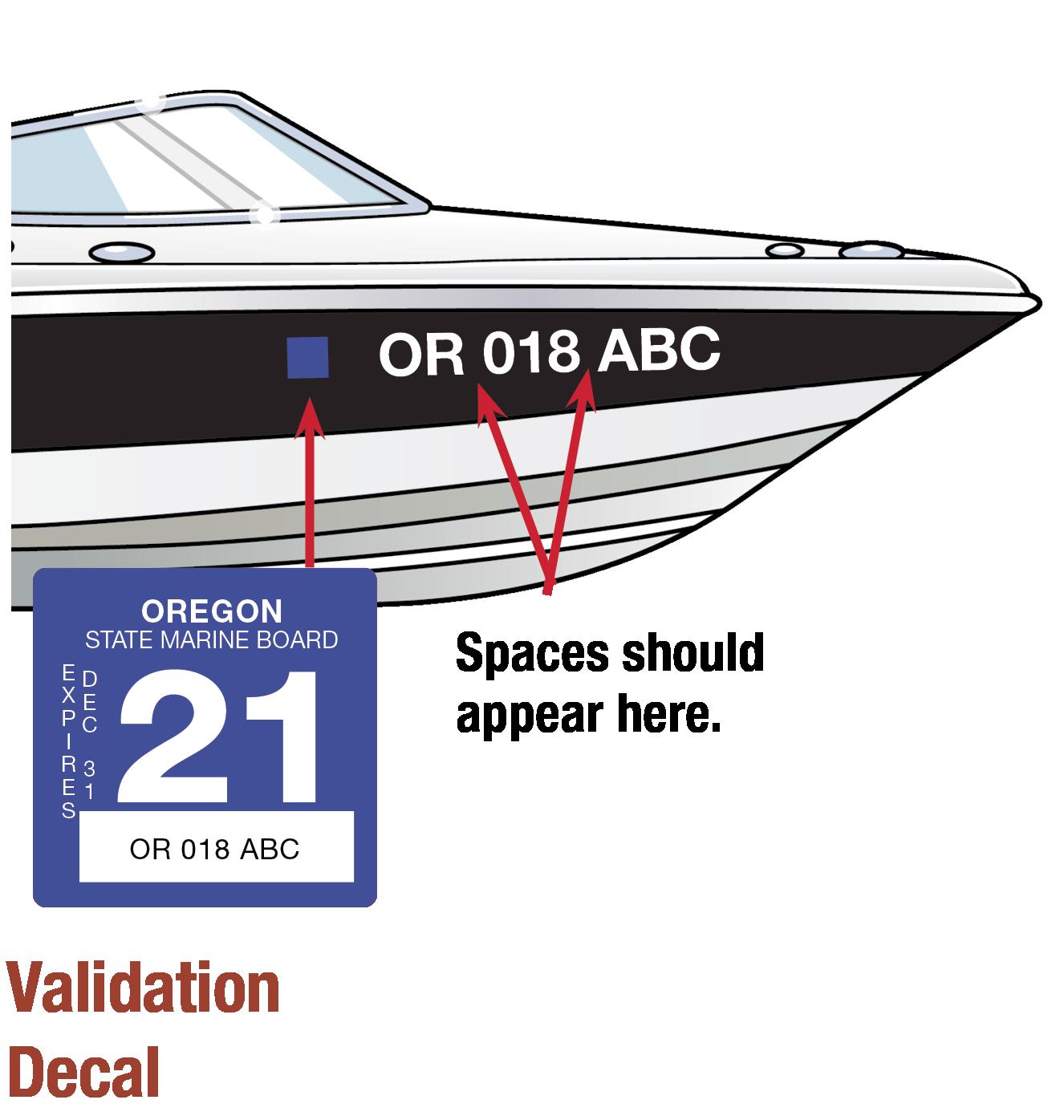 Oregon Boat Decal