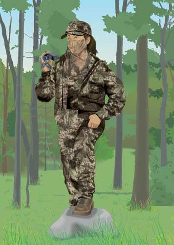 Hunter wearing camo