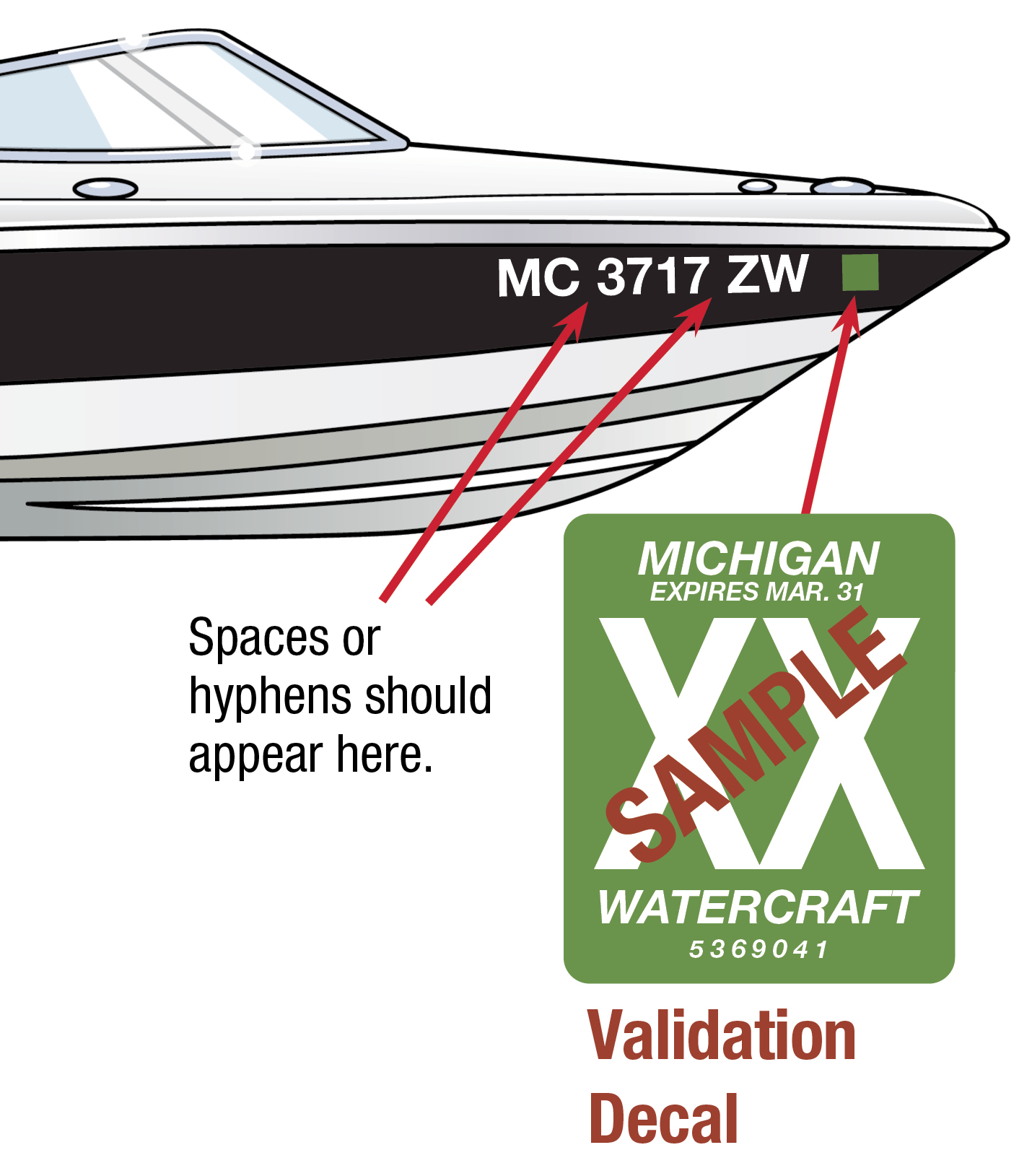 Michigan Boat Decal 2019