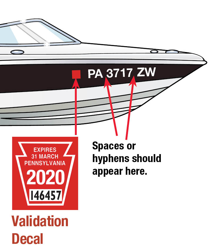 PA boat decal 2020 - Ms Motor Boat Registration Application