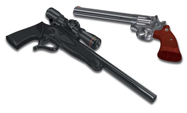 Handguns for recreational use
