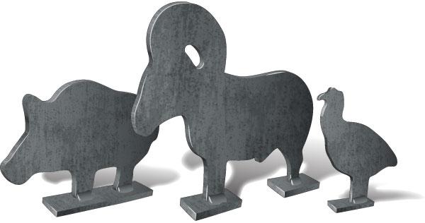Metallic silhouette targets